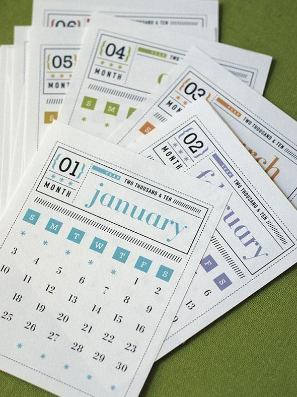 Calendario di Govango, su Etsy