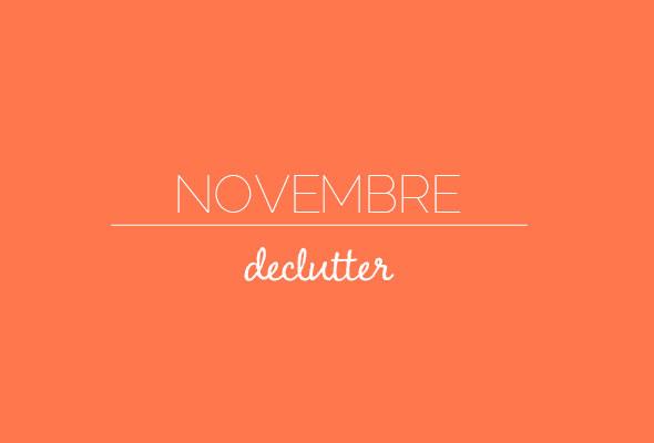 novembre decluttering