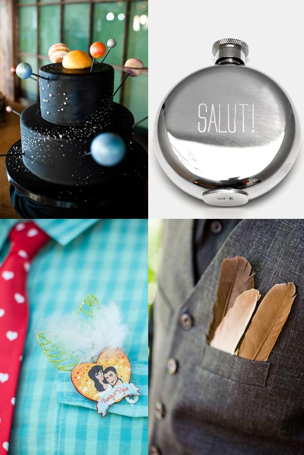Alcune idee per lo sposo dalla mia bacheca Pinterest dedicata. Da Junebu, Nordstrom, WeddingBells, Offbeat Bride