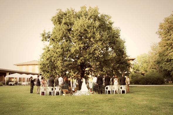 matrimonio Daniele e Ilaria cerimonia sotto la quercia