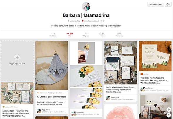 profilo Pinterest di fatamadrina