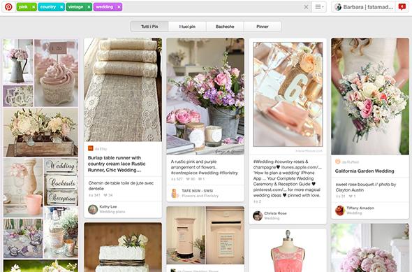 ricerca su Pinterest