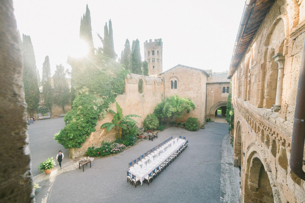 Castle wedding at La Badia Orvieto ph. Facibeni