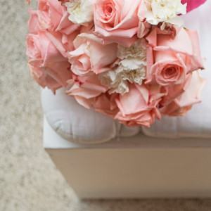 wedding paperwork pink roses bouquet fatamadrina