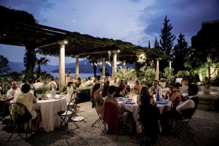 matrimonio D+M di sera a Villa Cipressi sul Lago di Como fatamadrina ph. Valeria Beltrami