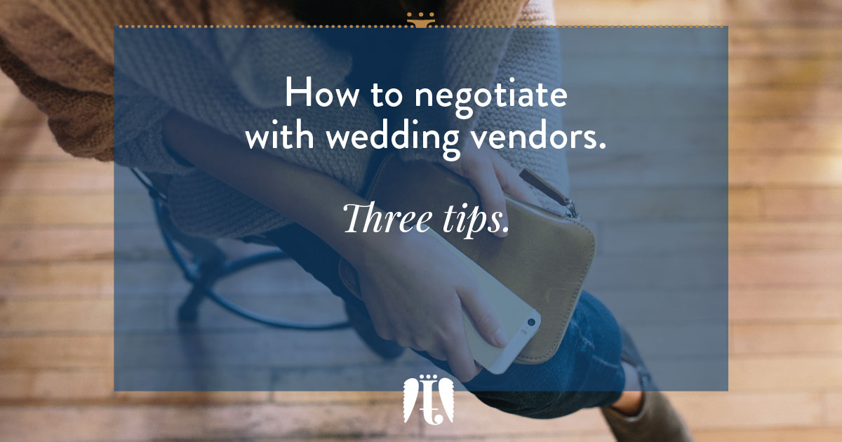how to negotiate with wedding vendors