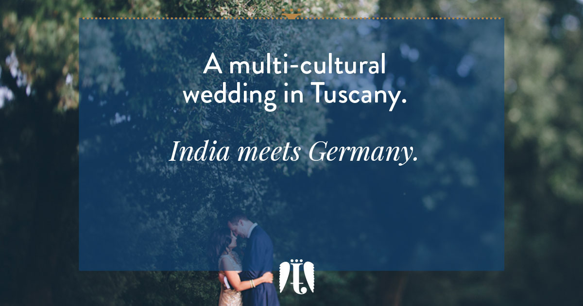 a multi-cultural wedding in Tuscany